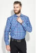 Рубашка мужская в клетку 50PD0053 клетка синий / фуксия