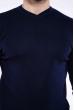Джемпер однотонный 606F001 темно-синий