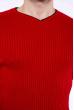 Джемпер однотонный 606F001 красный