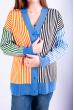 Кардиган женский 646F001 сине-молочный