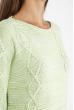 Свитер женский меланж 85F064 светло-оливковый