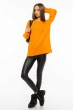 Свитер женский меланж 85F064 апельсиновый