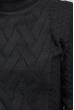 Свитер теплый однотонный 373F004 черный