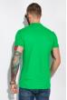Поло с контрастной полоской на воротнике 120PKE331 зеленый