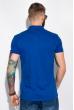 Поло с контрастной полоской на воротнике 120PKE331 синий