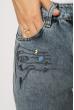 Джинсы женские с вышивкой 638F005 синий