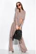 Комплект (кардиган, топ и штаны) женский с люрексом 120PSS009 пудровый меланж
