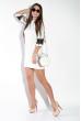 Платье женское с кружевом на рукаве  5700 молочный