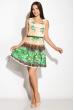 Платье женское 964K026 бежево-зеленый