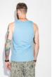 Майка мужская с надписью 184F005 голубой