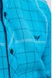 Рубашка яркая мужская 333F001 голубой