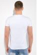 Футболка мужская , с надписями на груди 516F037 белый
