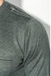 Джемпер мужской с кнопками на вырезе 50PD485 графит