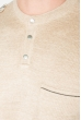 Джемпер мужской с кнопками на вырезе 50PD485 коричневый меланж