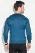 Джемпер мужской с кнопками на вырезе 50PD485 синий меланж