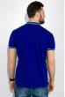 Поло мужское с яркими вставками на воротнике 516F292 сине-салатовый