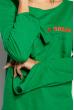 Свитер-туника с принтом 953K001 зеленый