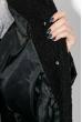 Пальто женское двухфактурное, стройный силуэт 69PD1056 черный