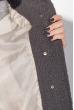 Пальто женское двухфактурное, стройный силуэт 69PD1056 графит