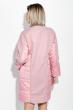 Пальто женское двухфактурное, стройный силуэт 69PD1056 пудровый