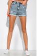 Модные джинсовы шорты 162P017 светло-синий