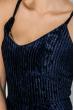 Платье женское  на тонких бретелях, элегантное  69PD982 темно-синий