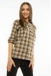 Рубашка женская с рукавами 3/4 11P402 коричнево-молочный