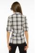 Рубашка женская с рукавами 3/4 11P402 молочно-синий