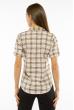 Рубашка женская с рукавами 3/4 11P402 молочно-красный / синий