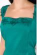 Платье на широких бретелях 110P070 изумрудный