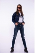 Куртка джинсовая на резинке 179P511 синий