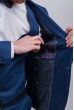 Пиджак синий мужской, на одной пуговице №276F021 темно-синий