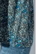Блуза женская с нежным цветочным принтом 266F011-7 серо-голубой