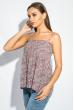 Блуза женская с нежным цветочным принтом 266F011-7 бежево-сиреневый