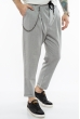 Стильные мужские брюки 158P4808 светло-серый