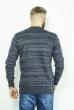Свитер меланжевый 85F055 сизо-синий