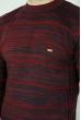 Свитер меланжевый 85F055 бордово-чернильный