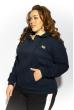 Кофта спортивная женская 85F10150-6 с капюшоном темно-синий