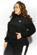 Кофта спортивная женская 85F10150-6 с капюшоном черный