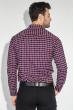 Рубашка мужская повседневная 50PD0041-2 сине-красная клетка
