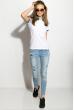 Поло женское 518F004 молочно-голубой