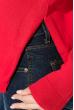 Пуловер женский, однотонный, базовый  122V001-1 коралловый