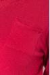 Пуловер женский, однотонный, базовый  122V001-1 бордо