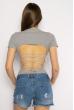 Боди женское с завязками на спине 629F1235 серый