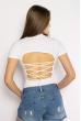 Боди женское с завязками на спине 629F1235 белый