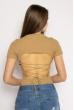 Боди женское с завязками на спине 629F1235 бежевый