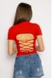 Боди женское с завязками на спине 629F1235 красный