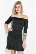 Платье женское с опущенными плечами  64PD276-1 черный