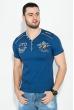 Футболка мужская с нашивкой и надписями 81P2046 синий