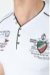 Футболка мужская с нашивкой и надписями 81P2046 белый